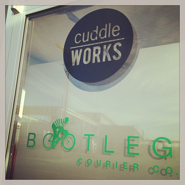 Entrance to Cuddleworks and Bootleg Courier's Facility on 4th St., Reno, NV