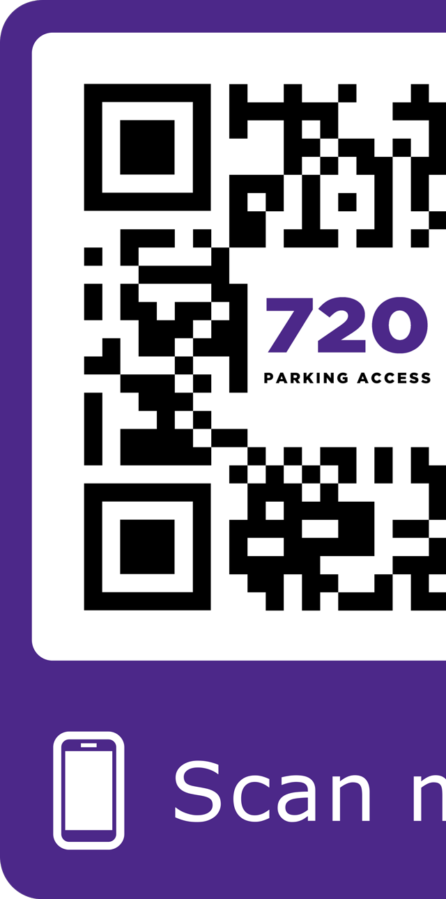 Partial visual of the 720 IoT solution's QR code for directing users to product and training material